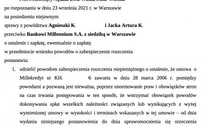 Kolejne zabezpieczenie dla Frankowicza w sprawie przeciwko Millennium!